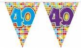 2x Mini vlaggenlijn / slinger - verjaardag 40  jaar - 300 cm