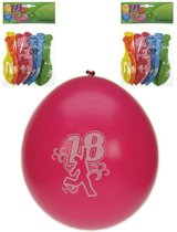 8x ballonnen 18 jaar