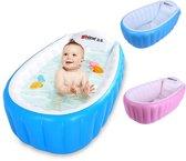 Opblaasbaar babybadje deluxe met antislip, inclusief pomp - opblaasbaar bad kind - opblaasbaar bad baby - blauw