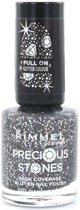 Rimmel London Glitter High Coverage - 1 Diamond Dust - Zwart - Nagellak