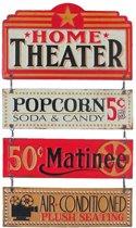 Signs-USA Home Theater - Retro Wandbord - Metaal - 57x33 cm