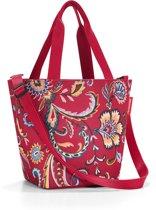 Reisenthel Shopper XS Schooltas - Maat XS - Kind - Polyester - 4 L - Paisley Ruby Rood; Mulri Kleur