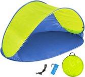 Pop up strandtent beach shelter blauw-geel 401680