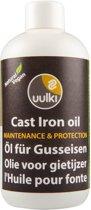 Uulki Gietijzer Olie & Conditioner – 100% Natuurlijke en Plantaardige Olie voor het onderhoud van je Pan, Pot, Wok, Koekenpan, Frituurpan, Dutch Oven, enz. uit Gietijzer (kleurloos, 250ml)