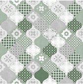 Home tegels groen/grijs behang (vliesbehang, groen)