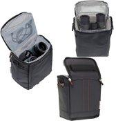 Navitech Zwart beschermend draagbare handheld verrekijker hoes en reistas voor de Olympus 8x40 DPS I