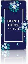 Huawei P30 Boekhoesje Flowers Blue DTMP