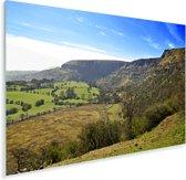 Groen landschap bij het Europese Nationaal park Brecon Beacons Plexiglas 90x60 cm - Foto print op Glas (Plexiglas wanddecoratie)