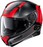 Nolan N87 Plus Distinctive 24 Flat Black Red  Integraalhelm - Motorhelm - Maat M