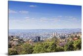 Zicht over de Braziliaanse stad Belo Horizonte in Zuid-Amerika Aluminium 180x120 cm - Foto print op Aluminium (metaal wanddecoratie) XXL / Groot formaat!