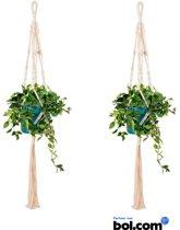 Plantenhanger - Plant - 2 stuks - Accessoires - Plantenhanger Macramé -