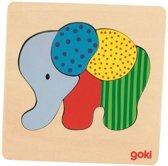 Goki Inlegpuzzel olifant 5-delig