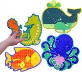 Petit Collage Mijn Eerste Puzzel Zeedieren 3-6 Stukjes