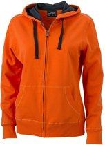 Oranje sweatvest voor dames L