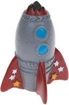 Kamparo mini-raket grijs/rood 6 x 4,5 cm