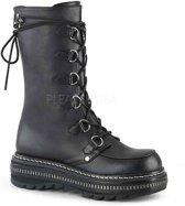 LILITH-270 - (EU 36 = US 6) - 1 1/4 PF Lace-Up Mid-Calf Boot, Back Zip