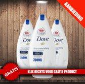Dove Deeply Nourishing Women Douchecreme 750 ml - 3 Pack Voordeelverpakking + Oramint Oral Care Kit 4 Delig
