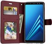 Samsung Galaxy A8 (2018) portemonnee hoesje - Bruin