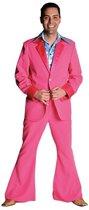 Roze 70's kostuum voor heren 60-62 (xl)