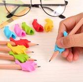 Potlood grip Penverdikker Potloodverdikker Pen grip Pencil Verdikker Pengrip Potloodgrip - Dolfijn Blauw 2 stuks
