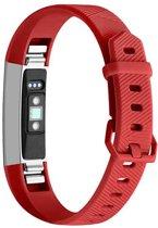 By Qubix Siliconen bandje - Fitbit Alta (HR) - Rood - Large