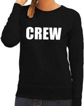 Crew tekst sweater / trui zwart voor dames L