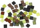 Mini mozaiek afm 5x5 mm dikte 2 mm groen harmonie 25gr