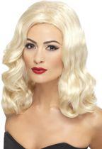 20s half lange pruik - Blond haar