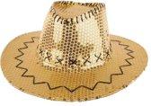 Cowboyhoed met pailletten goud  Western   carnaval  feest  Hoed  Cowboy