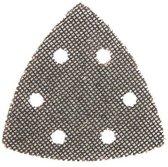 Silverline Driehoekige klittenband gaas schuurvellen, 95 mm, 10 Stuks 80 korrelgrofte
