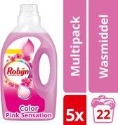 Robijn Vloeibaar Pink Sensations wasmiddel - 110 Wasbeurten - Kwartaalbox