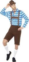Blauw en bruin Beiers kostuum voor volwassenen - Volwassenen kostuums