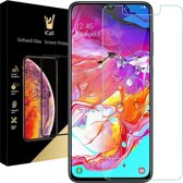 iCall - Samsung Galaxy A70 Screenprotector - Tempered Glass Gehard Glas - Case Friendly