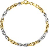 The Jewelry Collection Armband Koord 4,5 mm - Bicolor Goud