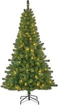 Black Box Charlton smalle kunstkerstboom met 160 warmwitte led lampjes maat in cm: 215 x 119