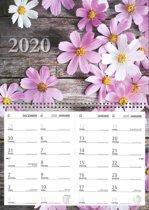Omleg-maand kalender 2020 - Bloemen - 43 x 34 cm