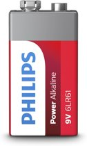 Philips Power Alkaline batterij 9V
