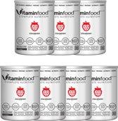 VITAMIN FOOD - 7 zakken / 1 smaak (AARDBEI) - Vitaminfood® - Soylent - Complete Voeding - 27 Vitaminen&Mineralen - Suikervrije,Vegan Maaltijdvervanger - 100g ErwtenProteïnen - 7 x AARDBEI + Shaker! 1 zak=450g