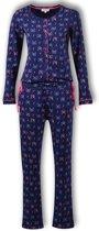Woody onesie meisjes - katjes - blauw - 192-1-YOA-Z/988 - maat 176