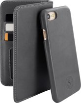 Serenity 2 in 1 Leather Wallet Case Apple iPhone 7/8 Discrete Grey