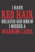 RED HAIR Notebook Journal