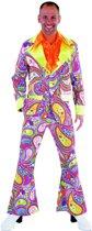 Funky Colours Hippie pak - Flower Power kostuum maat XL/XXL