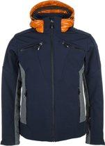 Icepeak Carter Wintersportjas - Maat M  - Mannen - blauw/oranje