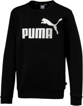 Puma Ess Crew Sweat Juior  Sporttrui casual - Maat 140  - Unisex - zwart/wit