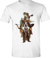 Assassin's Creed: Origins - Character Eagle Men T-Shirt - Wit - Maat XXL