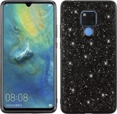 Let op type!! Glittery poeder schokbestendig TPU Case voor Huawei mate 20 X (zwart)