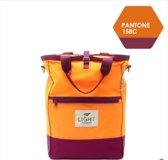 OP=OP#Vouwbaar multifunctionele rug-handtas – Reistas - Licht van gewicht  - Meerkleurig ontwerp - Oranje | m square