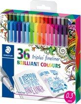 STAEDTLER Triplus fineliner - etui 36 kleuren - Johanna Basford (26 + 10)