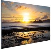 Zonsondergang in Azie  Aluminium 120x80 cm - Foto print op Aluminium (metaal wanddecoratie)