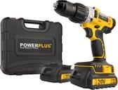 Powerplus POWX00445 Accuboormachine - met klopfunctie - 20V - 2 accu's - incl. gereedschapskoffer